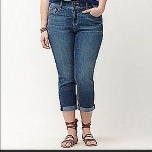 Lane Bryant cropped jeans size 18